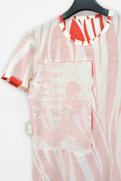 2001 T-Shirt with 'Female/Bourgeois' Patch in Animal-Print Cotton Jersey