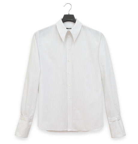 2005 Shirt with Exaggerated Collar and Removable Cuffs in Fine Cotton Poplin