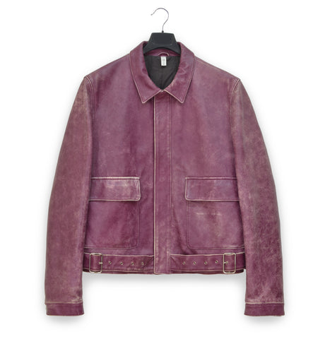 2001 Belted Aviator Blouson in Heavy Vintage Lamb Leather