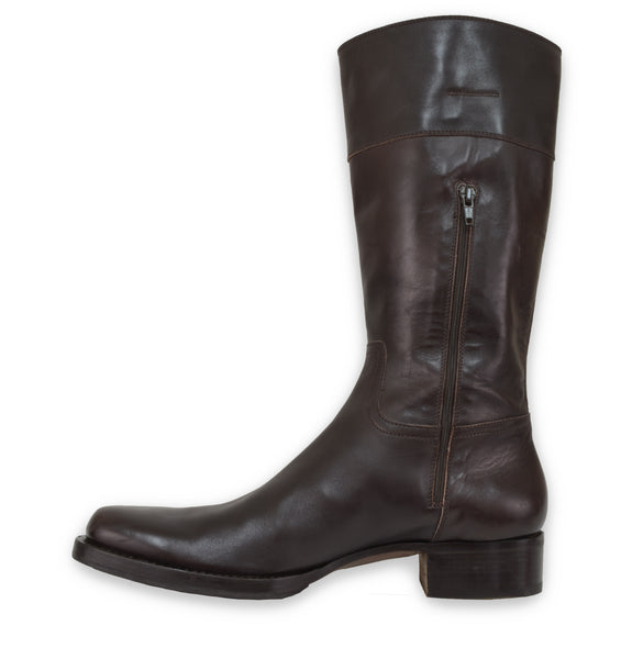 2006 Square Toe Western Boots in Polished Calfskin