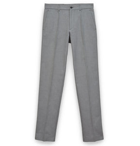 2001 Narrow Tailored Trousers in Compact Patterned Cotton