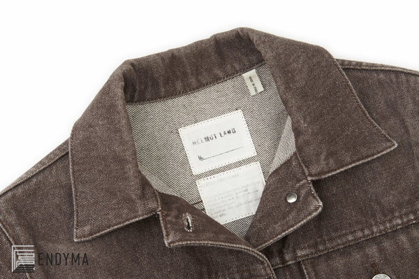 2000 Brown Heavy Raw Denim Simple 2 Pocket Jacket