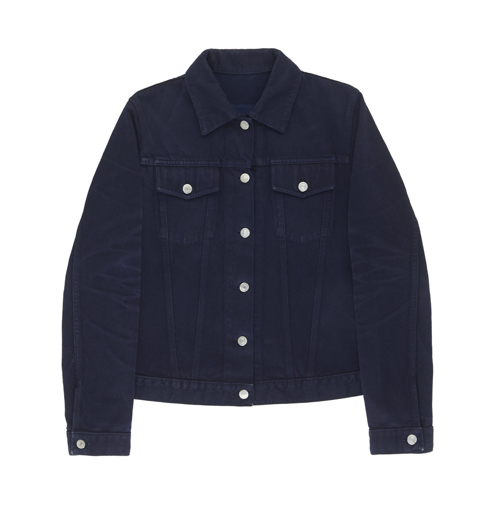 2004 Heavy Saturated Blue Denim Classic 2 Pocket Jacket