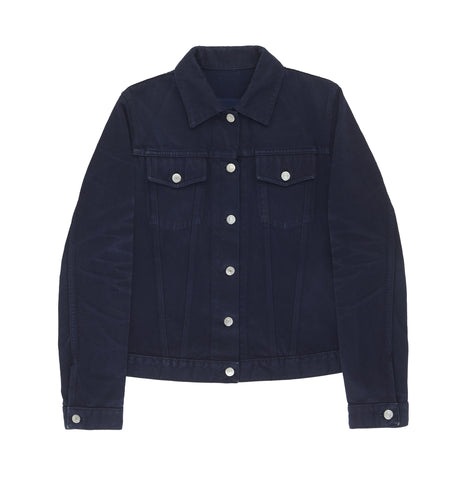 2004 Heavy Overdyed Blue Denim Classic 2 Pocket Jacket