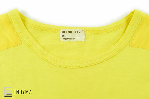 1997 Safety Yellow Military T-Shirt with Slashed Sleeves