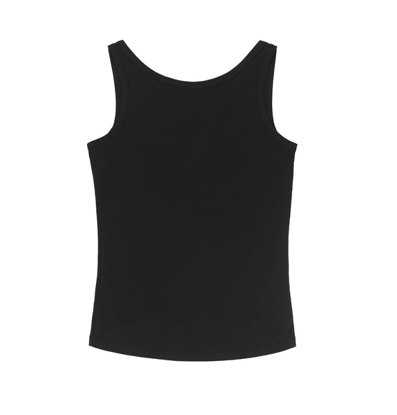 2002 Fine Jersey Tank Top with Cut-Out Hem
