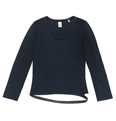 2003 Egyptian Cotton Long-Sleeve T-Shirt with Detached Hem