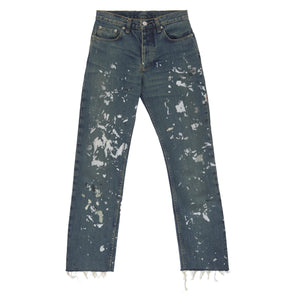 1998 Vintage Sanded Broken Denim Painter Jeans (Medium Wash, Size 26)