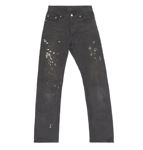 2000 Vintage Overdyed Black Denim Painter Jeans (Size 27)