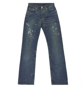 2000 Vintage Sanded Denim Painter Jeans (Dark Wash, Size 26)