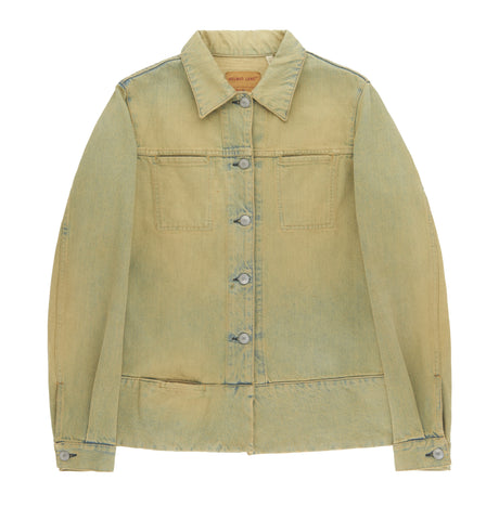 1998 Vintage Bleached Denim 3 Slit Pocket Jacket