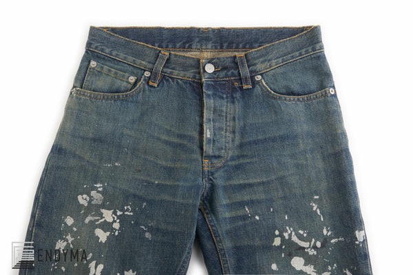 1998 Vintage Sanded Denim Painter Jeans (Medium Wash, Size 28)