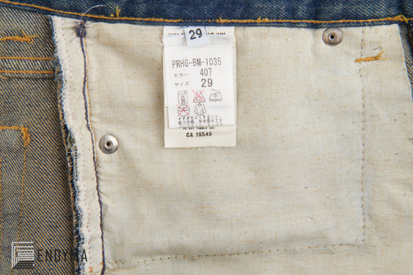 1999 Vintage Sanded Denim Military Green Painter Jeans (Medium Wash, Sizes 28 & 29)
