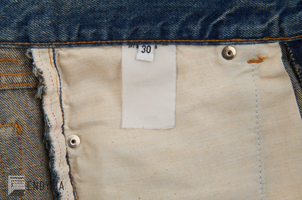 2000 Vintage Sanded Denim Painter Jeans (Light Wash, Size 30)