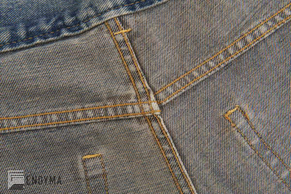 1998 Vintage Sanded Denim Painter Jeans (Light Stained Wash, Size 32)
