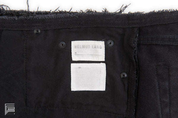 2003 Heavy Overdyed Denim Deconstructed Jeans with Frayed Waist