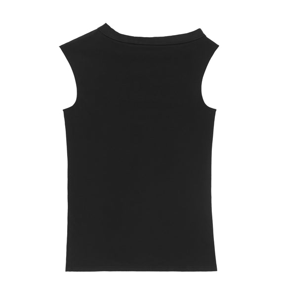 1998 Sleeveless Top with Asymmetric Neckline