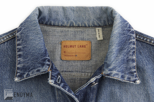 1998 Vintage Sanded Broken Denim 3 Slit Pocket Jacket