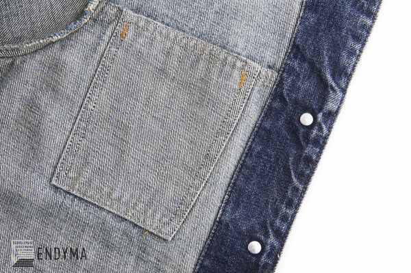 1998 Vintage Sanded Broken Denim 3 Slash Pocket Jacket