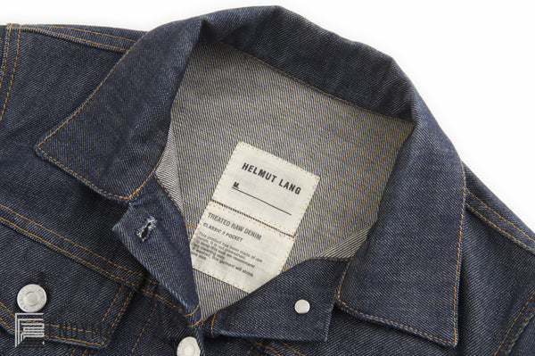 2004 Treated Raw Denim Classic 2 Pocket Jacket