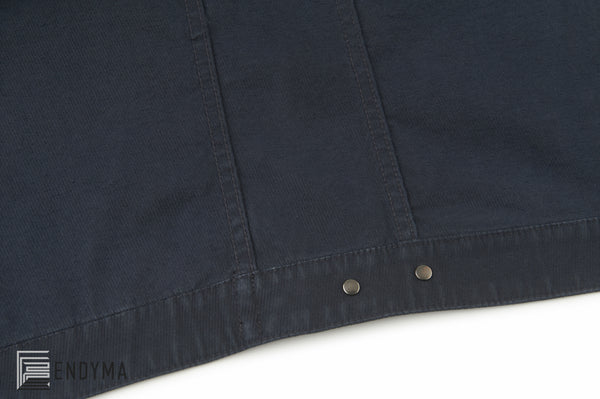 2005 Overdyed Stretch Twill Slim 1 Pocket Jacket with Zipper Front