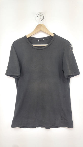 1997 Distressed Backstage T-shirt with Silver Metal Loop Detail