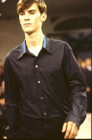 1996 Classic Shirt with Contrasting Collar Detail