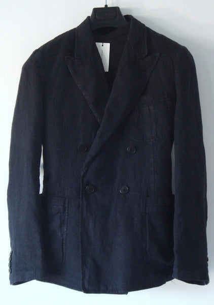 2010 Overdyed Linen Double-Breasted Jacket