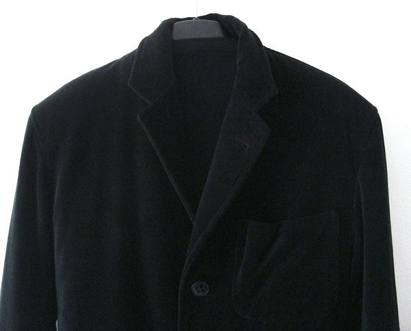 2005 Velvet Blazer Jacket with Oversized pockets and Jacquard trims