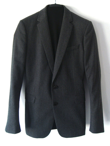 2012 Virgin Wool Kean Blazer Jacket in Anthracite