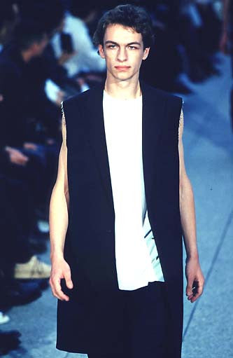 1999 Recycled Wool Elongated Tank Top with Raw Edges