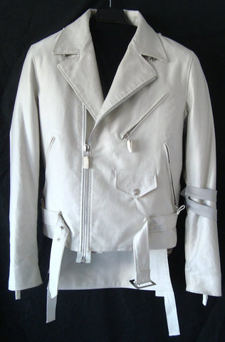 2004 Bondage Biker Jacket with D-rings and Zipped Kilt