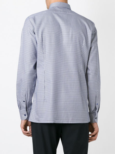 2007 Micro Basketweave Cotton Darted Shirt with Double Collar