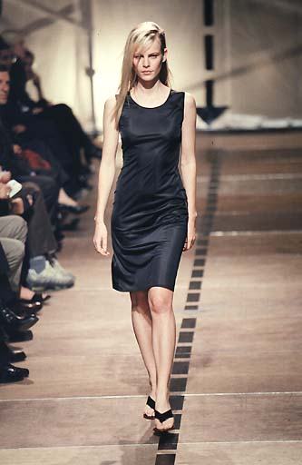 1998 Asymmetric Single-Sleeve Dress in Partly Transparent Technical Jersey