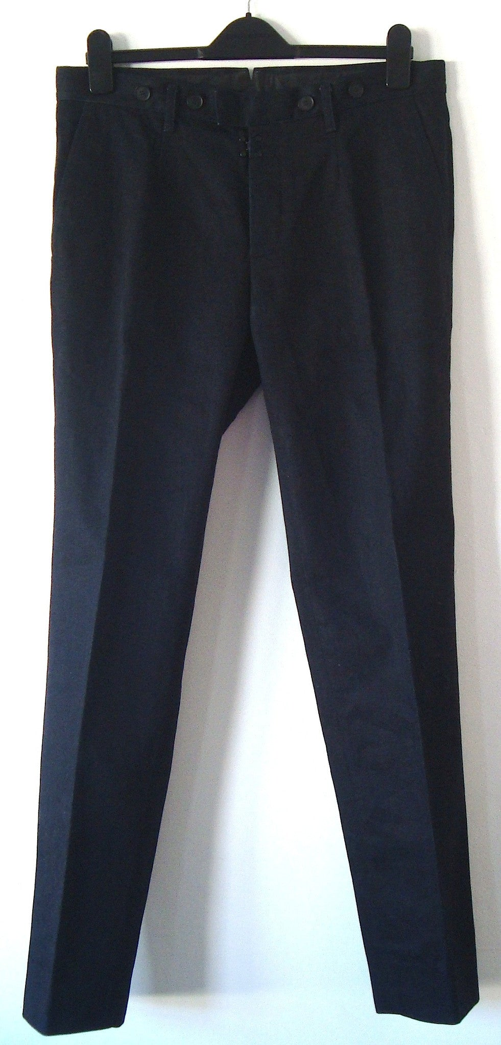 2012 Heavy Coated Denim Workwear Trousers with Metal Clasp