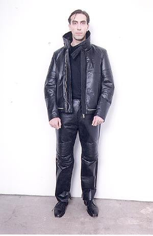 2003 Cotton Drill Biker Jacket with Removable Collar Insert