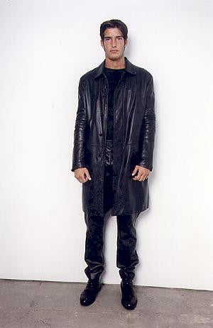 1999 Heavy Moleskin Cotton Tailored Biker Coat