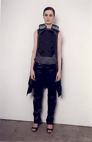 2000 Resinated Cotton Bondage Biker Jacket with Neck Rest Collar