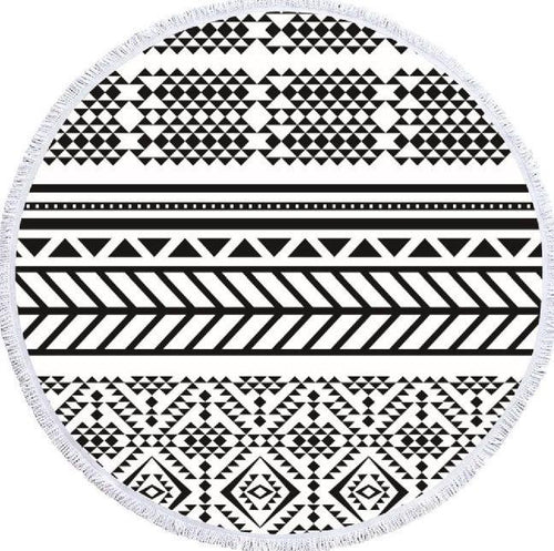 Black and White Roundie Beyond Tapestry