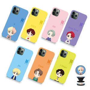 j-hope k pop bts bt21 cartoon mobile phone cover with holder k-pop case