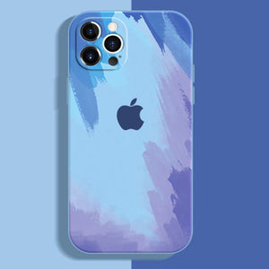 apple iphone 12 and 12 pro max premium silicone case cover blue