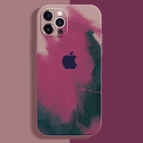 apple iphone 12 and 12 pro max premium silicone rubber case cover mulberry