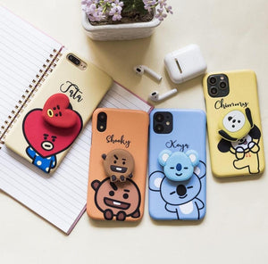 BTS Phone Case Cover with Holder Cartoon Characters