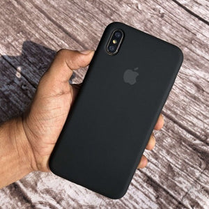 Apple iPhone Liquid Silicone Case Cover Jet Black