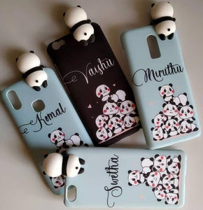 Panda Custom Name Case Cover Toy