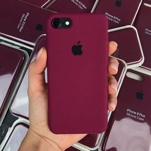 Apple iPhone Liquid Silicone Case Cover Plum