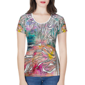 """Tropical Afternoon"" Tshirt Women's All-Over Print T shirt"