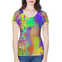 "Load image into Gallery viewer, ""Frequency"" T-shirt Women's All-Over Print T shirt"