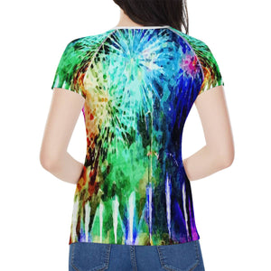 Fireworks Women's All-Over Print T shirt
