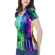 Load image into Gallery viewer, Fireworks Women's All-Over Print T shirt